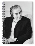 Israel Prime Minister Golda Meir 1973 Spiral Notebook