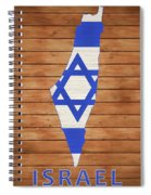 Israel Rustic Map On Wood Spiral Notebook