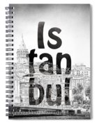 Istanbul Galata Tower Square Spiral Notebook