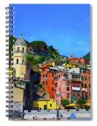 Italian Beachside  Spiral Notebook
