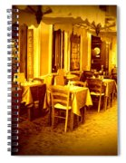 Italian Cafe In Golden Sepia Spiral Notebook