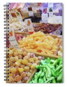 Italian Farmers Market Dried Fruits Spiral Notebook