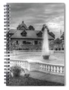 Italian Fountain Maymont B And W Spiral Notebook