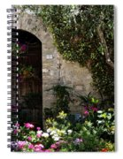 Italian Front Door Adorned With Flowers Spiral Notebook