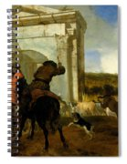 Italian Landscape With Horsemen By A Spring Spiral Notebook