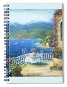Italian Lunch On The Terrace Spiral Notebook