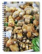 Italian Market Porcini Mushrooms  Spiral Notebook