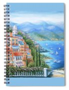 Italian Village By The Sea Spiral Notebook