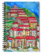 Italian Village On A Hill Spiral Notebook