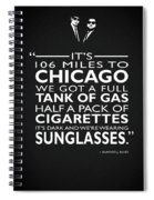 Its 106 Miles To Chicago Spiral Notebook