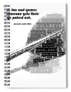 It's All Fun And Games Dart Spiral Notebook