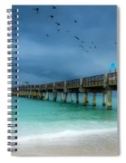 It's Getting Stormy At The Pier Spiral Notebook