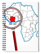 Ivory Coast Under A Magnifying Glass Spiral Notebook