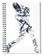 J D Martinez Detroit Tigers Pixel Art 3 Spiral Notebook