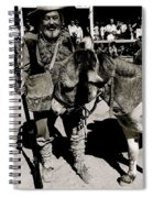 Jack Hendrickson With Pet Burro  Number 1 Helldorado Days Parade Tombstone Arizona 1980 Spiral Notebook