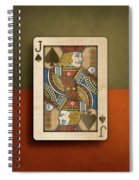 Jack Of Spades In Wood Spiral Notebook