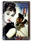 Jack Russell Terrier Art Canvas Print - Breakfast At Tiffany Movie Poster Spiral Notebook