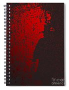 Jack The Ripper In Red Light Spiral Notebook