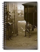 Jackie Sharkey For Kvoa Tv In Tucson Shooting Extras On The Set Of The Great White Hope Globe Az '69 Spiral Notebook