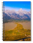 Jackson Hole Wy Tetons National Park Views Spiral Notebook