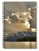 Jackson Lake Sunset View Spiral Notebook