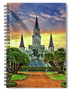 Jackson Square Evening Rays Spiral Notebook