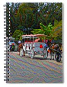 Jackson Square Horse And Buggies Spiral Notebook