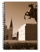 Jackson Square In New Orleans - Sepia Spiral Notebook