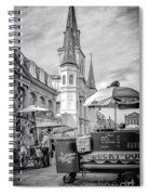 Jackson Square Scene New Orleans - Bw  Spiral Notebook