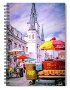 Jackson Square Scene - Painted - Nola Spiral Notebook