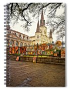 Jackson Square Winter - Artistic Spiral Notebook
