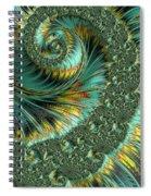 Jade And Yellow Fractal Spiral Spiral Notebook