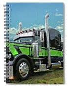 Jade Transport Peterbilt Spiral Notebook
