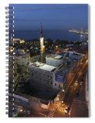 Jaffa At Night Aerial View Spiral Notebook