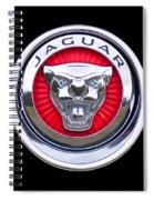 Jaguar Emblem Spiral Notebook