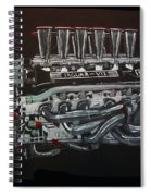 Jaguar V12 Twr Engine Spiral Notebook