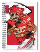 Jamaal Charles Kansas City Chiefs Oil Art Spiral Notebook
