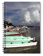 Jamaican Fishing Boats Spiral Notebook