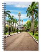 Jame'asr Hassanil Bolkiah Mosque In Brunei Spiral Notebook