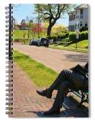 James Bradley Statue 4211 Spiral Notebook