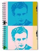 James Dean Pop Art Spiral Notebook