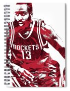 James Harden Houston Rockets Pixel Art 3 Spiral Notebook