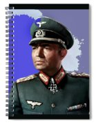 James Mason As Erwin Rommel Publicity Photo The Desert Fox 1951 Color Added 2016 Spiral Notebook