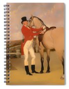 James Taylor Wray Of The Bedale Hunt With His Dun Hunter Spiral Notebook