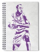 James Worthy Los Angeles Lakers Pixel Art Spiral Notebook