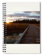 Jamestown Forest Loop Sunset Spiral Notebook