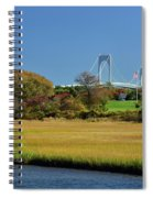 Jamestown Marsh With Pell Bridge Spiral Notebook