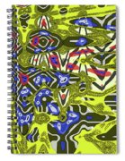 Janca Abstract # 6731eac1 Spiral Notebook