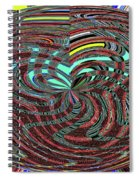 Janca Abstract Ovoid Panel 9646w9a Spiral Notebook