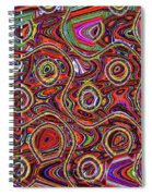 Janca Abstract Panel #097e10 Spiral Notebook